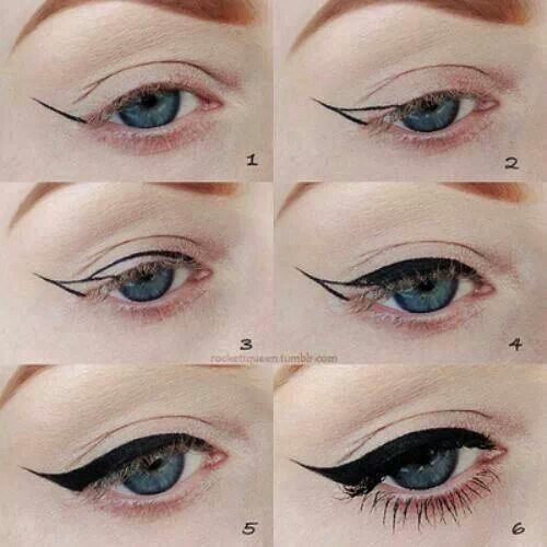 This is truly the best way to teach clients how to easily achieve the perfect cat eye!!!