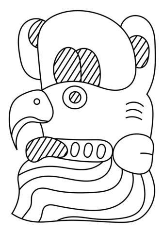 15th maya month muwan coloring page