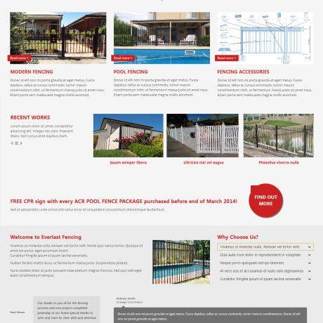 Fencing Company Website Design