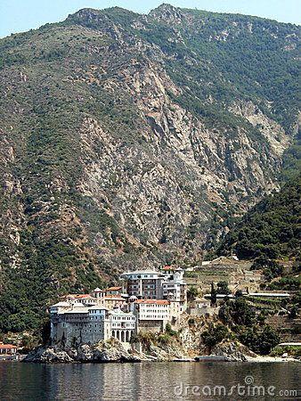 Monastery at Mt Athos, Halkidiki, Greece