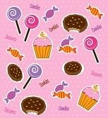 lolipop : Caramelle disegno su sfondo rosa illustrazione vettoriale