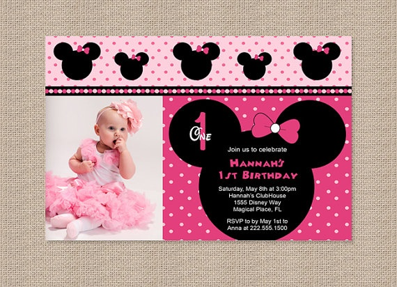 Minnie Mouse Parade Birthday Party Invitations By Honeyprint 1500