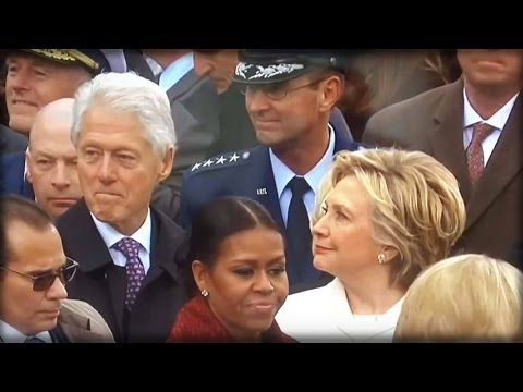 DAMN! WATCH HILLARY CATCH BILL UNDRESSING IVANKA TRUMP AT THE INAUGURATION WITH HIS EYES - YouTube