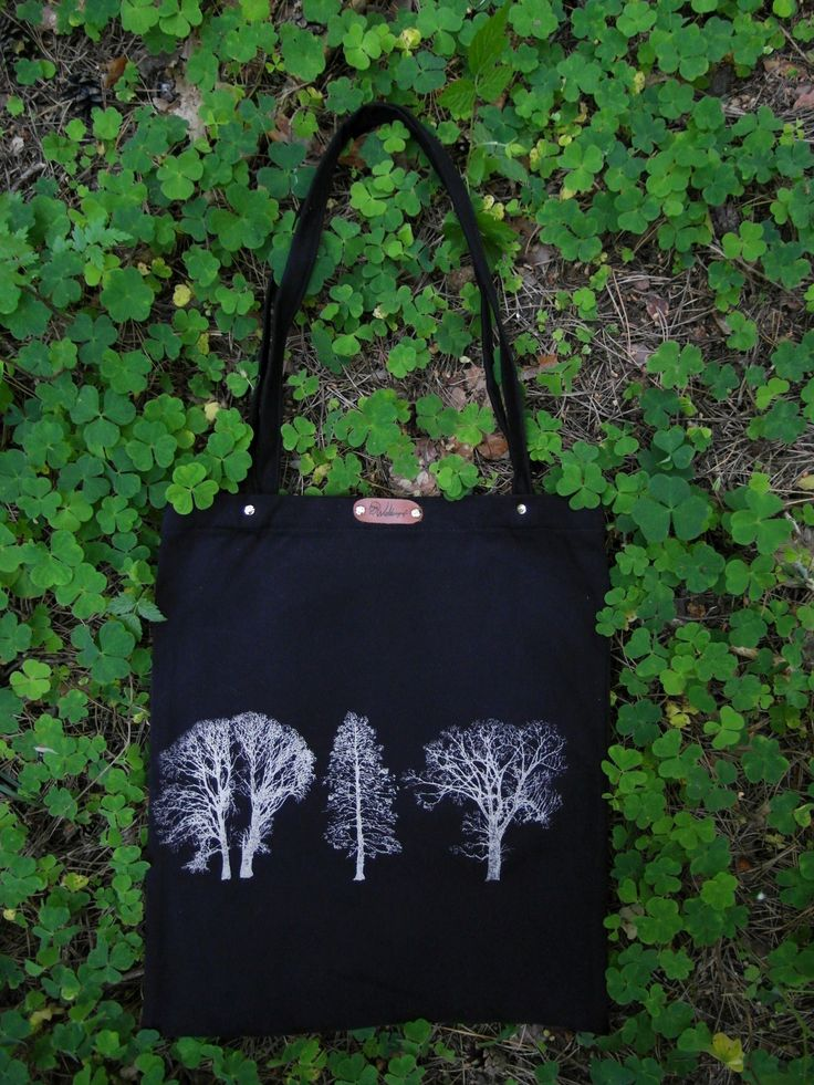 Hand screen printed with discharge cotton tote bag.
