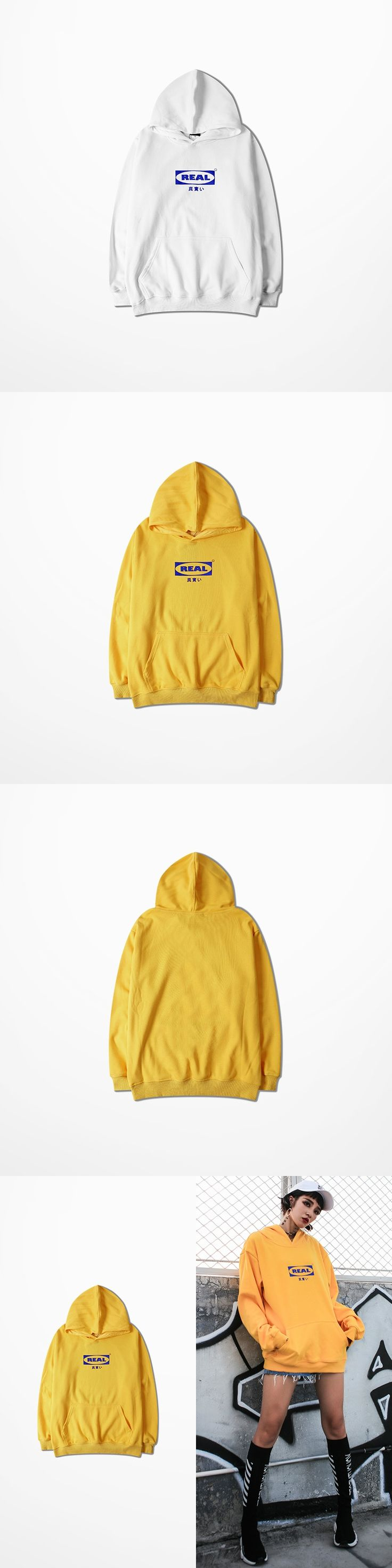 Fashion Design Yellow Hoodie Man Streetwear Real Print Streetwear Justin Bieber Mens Hoodies And Sweatshirts High Street Kanye