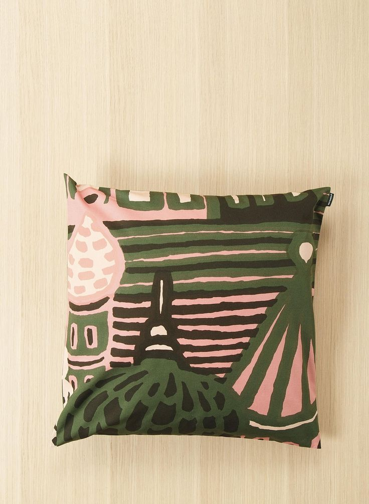 The Kumiseva cushion cover is available exclusively through Marimekko's online store during Milan Design Week 2016. The Kumiseva print was designed by Katsuji Wakisaka in 1971 and is a part of Marimekko's fall/winter 2016 home collection. The fabric-cover