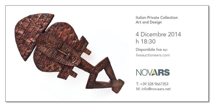 TODAY LIVE ON LIVEAUCTIONEERS - Nova Ars auction Art and design - Check the catalogue live http://www.liveauctioneers.com/catalog/64240_italian-private-collection-art-and-design/page1