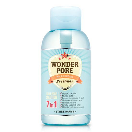 14 Must Have Korean Beauty Products - Etude House Wonder Pore Freshner - for shrinking enlarged pores, firming skin and eliminating harmful bacteria from forming under the skin.