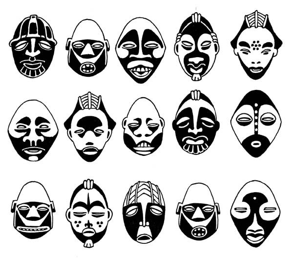 Masks. Spot the identical pair.