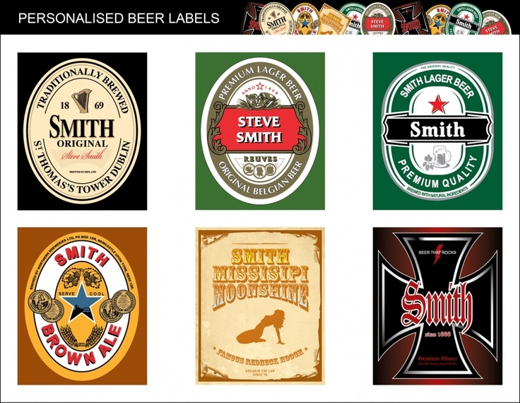 Personalised Beer Labels £16.99 - The Wedding Gift Company