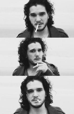Yeah, smoking's bad but... Kit Harington