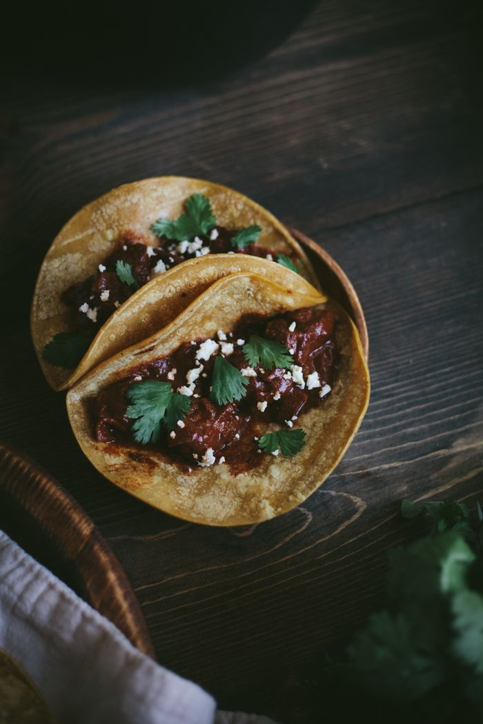 Braised Mole Beef Tacos with Cilantro Fresco| Adventures in Cooking++++++++++++++++++++++