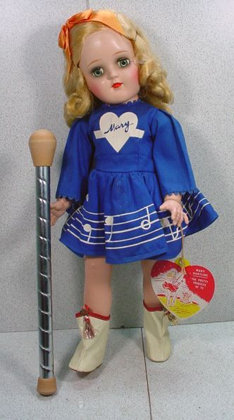 The Ideal Toni doll was also used for Mary Hartline doll.  Mary Hartline was a TV personality in the 1950s.