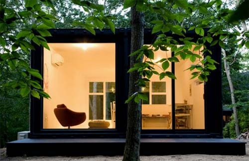 Studio made of two shipping containers