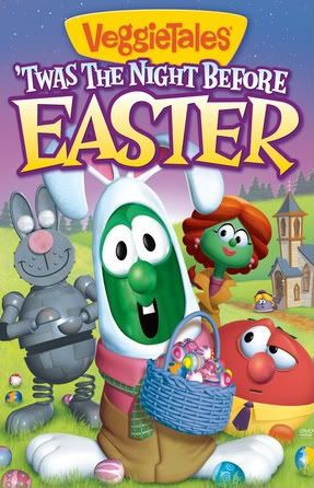 VeggieTales: Twas the Night Before Easter - Christian Cartoon Film/Movie on DVD. It's Easter time in Crisper County and cable news reporter Marlee Meade (Petunia Rhubarb) is hunting for a way to help others. http://www.christianfilmdatabase.com/review/veggietales-twas-the-night-before-easter/