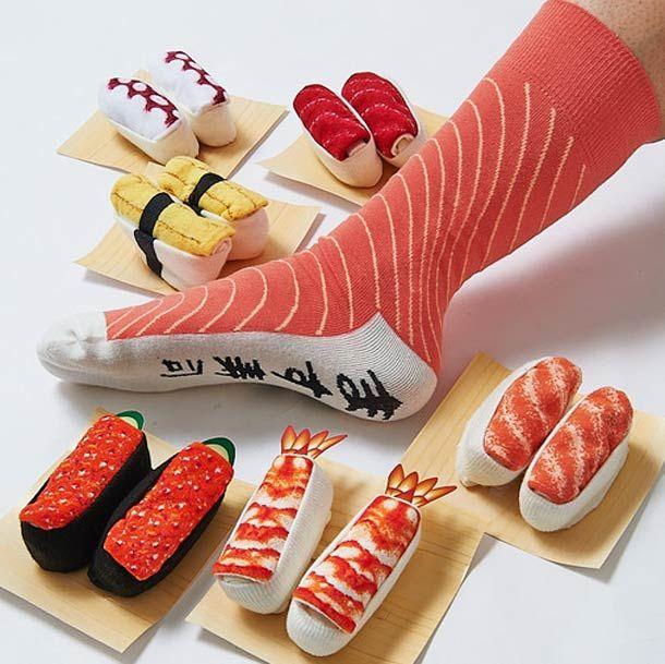 Sushi Socks – Des chaussettes pour les accros aux sushi