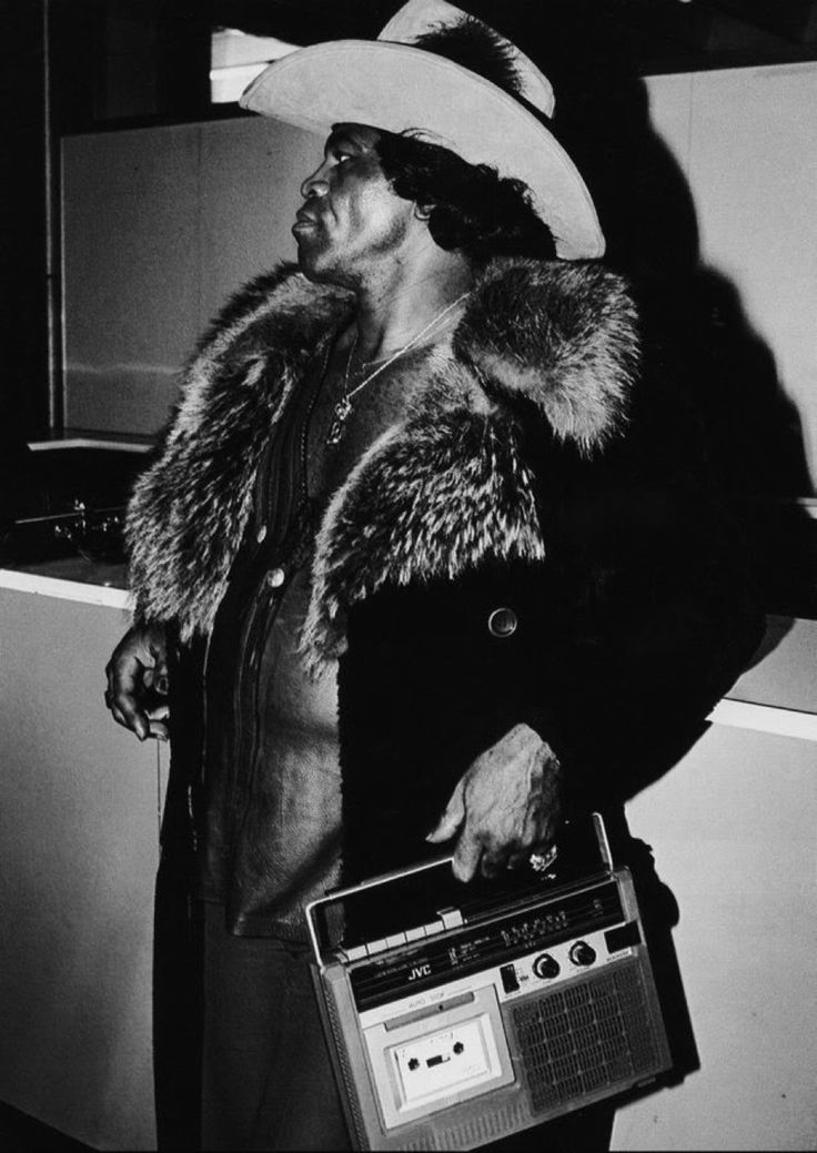 Nothing smoother than a man in fur. James Brown a game changer for sure.