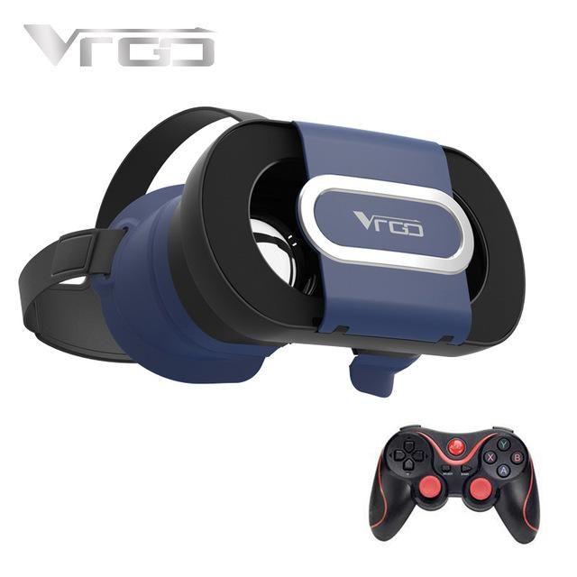 RITECH VRGO 3D VR Glasses Virtual Reality Google Cardboard VR Headset for 4.7-6.0 Inch Smartphone +Wireless Gamepad