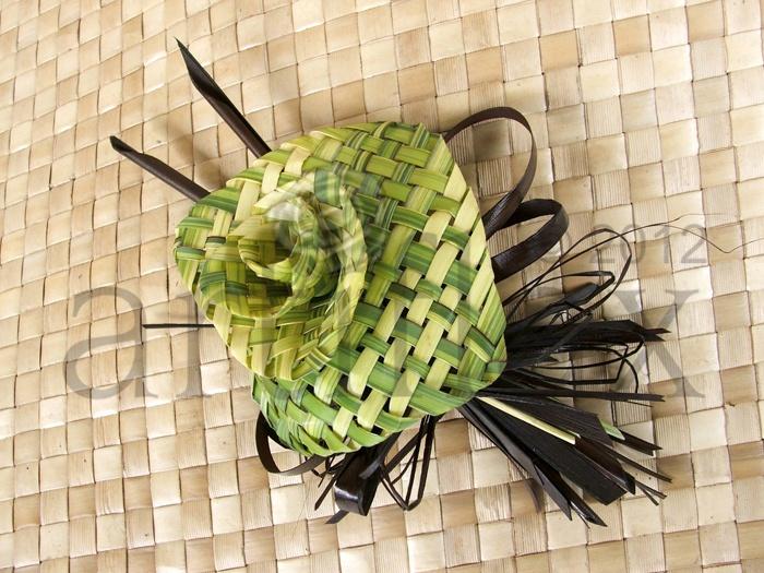 Artiflax - weddings - Flax lily buttonhole