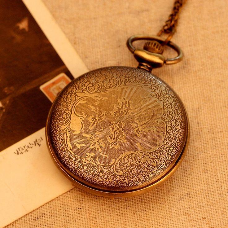 Women Fashion Vintage Pocket Watch Green Bronze 2235 (large)   Lazada PH