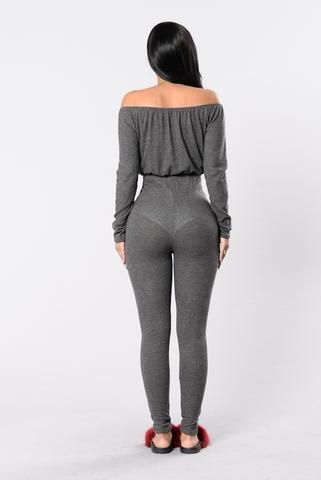 Lift Off Jumpsuit - Charcoal