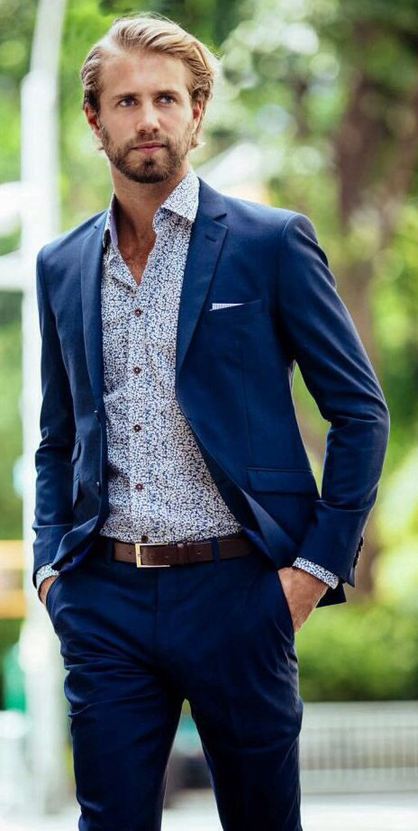 Tom Bull | Blue Suit | Casual Style | Men's Fashion | Menswear | Men's Outfit for Spring/Summer | Shop at designerclothingfans.com