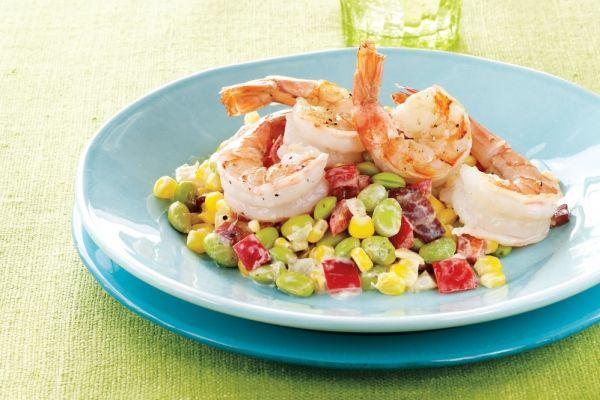 Spicy Edamame Succotash Salad Recipe — Dishmaps