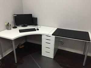 Ikea linnmon desk adils alex drawer desk pad for sale city of