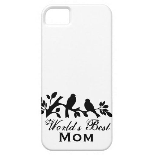 World's Best Mom Mother's Day Bird Branch Phone Cover