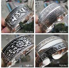 Metal retro para mujer fábrica de joyas tibetano brazaletes de plata tibetana antigua brazaletes de puño de plata(China (Mainland))                                                                                                                                                      Más