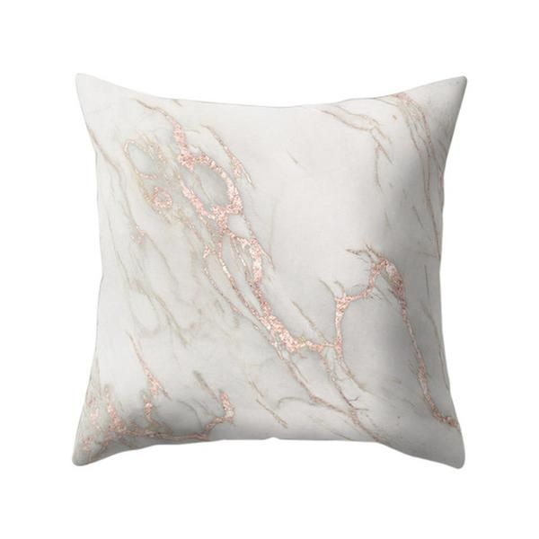 Rose Gold Marble Pattern Cushion Cover Christmas Decorations For Home Sofa Bed Car Home O Textured Throw Pillows Decorative Cushion Covers Rose Gold Room Decor