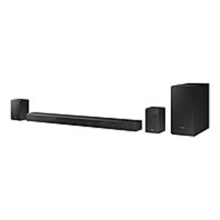B Samsung HW-K950 5.1.4-Channel Soundbar with Dolby Atmos Technology - Wireless Subwoofer and Rear Speakers