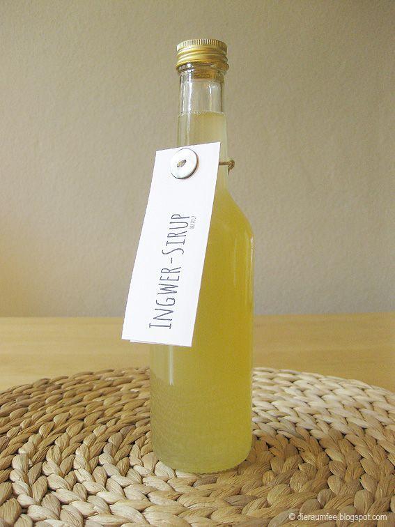 Ingwer-Sirup     05.12.2015: 50g Ingwer + 500ml Wasser + Schale 1/2 Zitrone -> 400-450ml + 100ml Zitronensaft (von 3 Zitronen) + 400g Zucker
