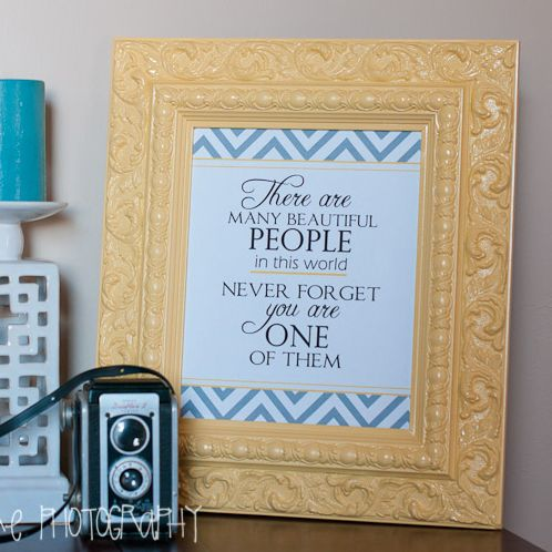 Free Printable home decor chevron quote from bcouturephotography, featured @printabledecor1