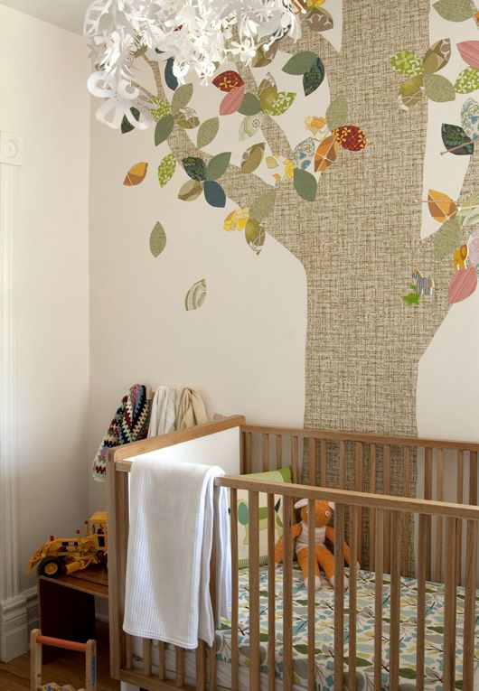 nursery decor so cute gender neutral and nice use of pattern