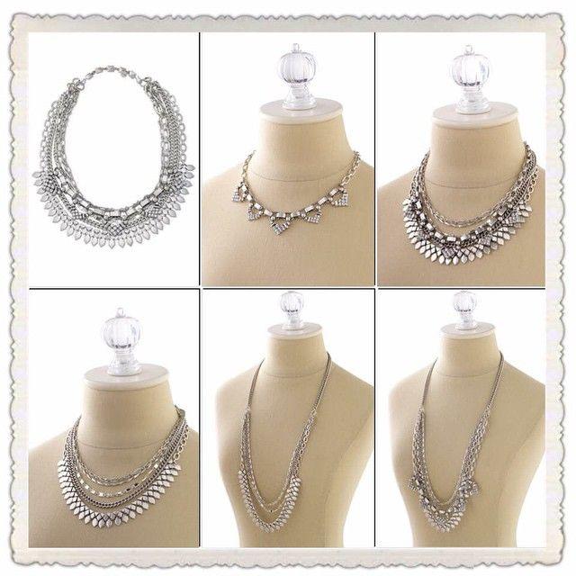 Silver Sutton Necklace. So versatile. Wear 5 different ways!!