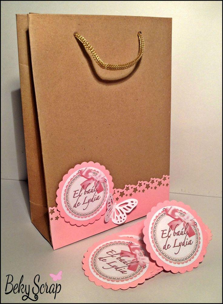 Beky Scrap: Bolsas regalo personalizadas para El Baúl de Lydia