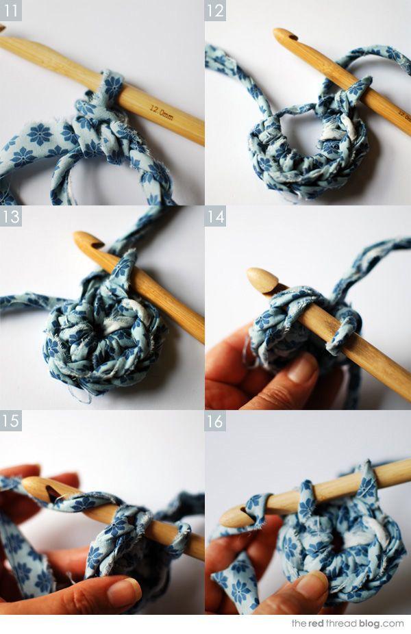 the red thread fabric crochet tutorial 3