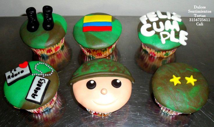 Cupcakes Fuerzas Militares de Colombia