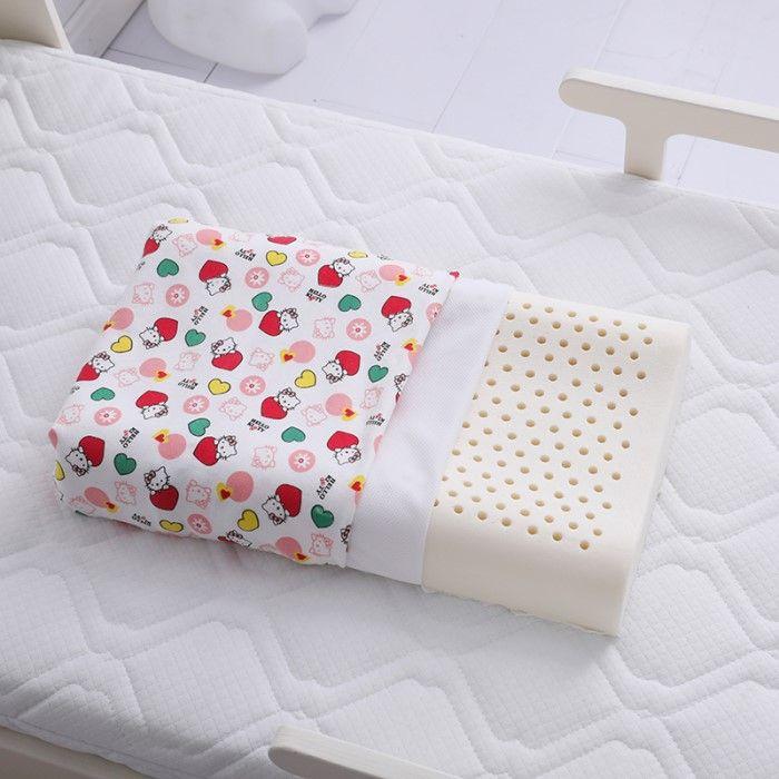 婉寇家纺全棉卡通儿童乳胶枕头枕芯 婴幼儿幼儿园护颈枕 吸湿透气