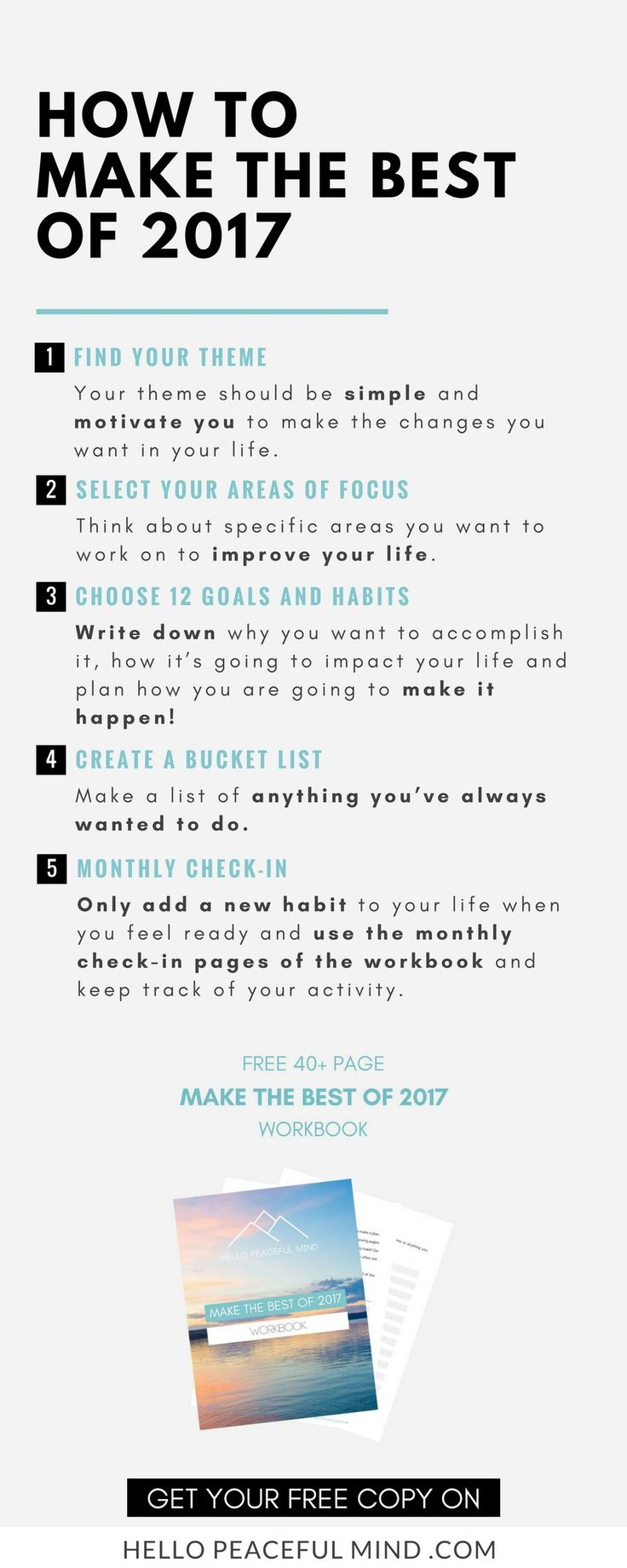Focus on these 5 steps to make the best of 2017!