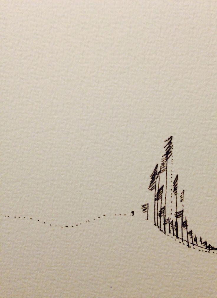 Allmost snow. 2014. Tusch on paper.