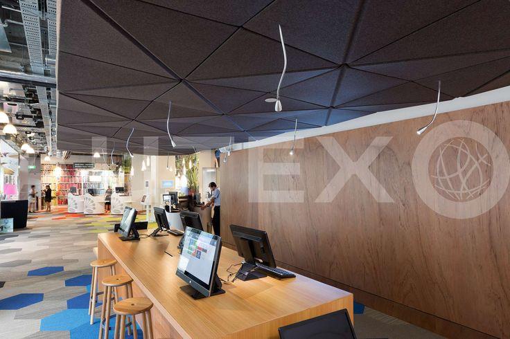 Autex Interior Acoustics - Quietspace® 3D Ceiling Tiles - Auckland City Council, NZ - S-5.53 colour Silver