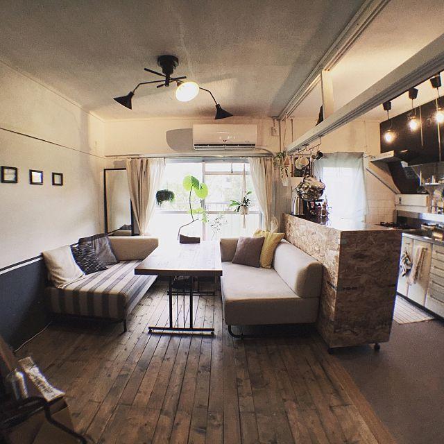 makotottoさんの、Overview,アンティーク,DIY,団地,インダストリアル,リノベーション,セルフリノベーション,造作キッチンについての部屋写真