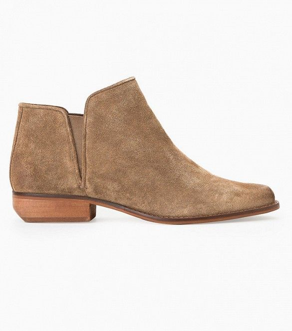 Mango Flat Suede Ankle Boots