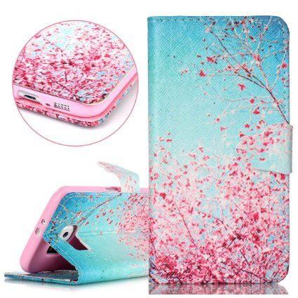 Samsung Galaxy S6 Case,Galaxy S6 Case,ISAKEN Samsung Galaxy S6 Wallet Case,Samsung Galaxy S6 Cover,Luxury Elegant Printing Drawing Design Pattern Magnetic Flip PU Leather Wallet Case Credit Card Holder Slot Protective with Stand Function Case Cover for Samsung Galaxy S6 G920 - Red Pink Dandelion Words: Amazon.co.uk: Beauty