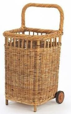 Small French Country Market Cart.  Love this for laundry, shopping, or flowers!!