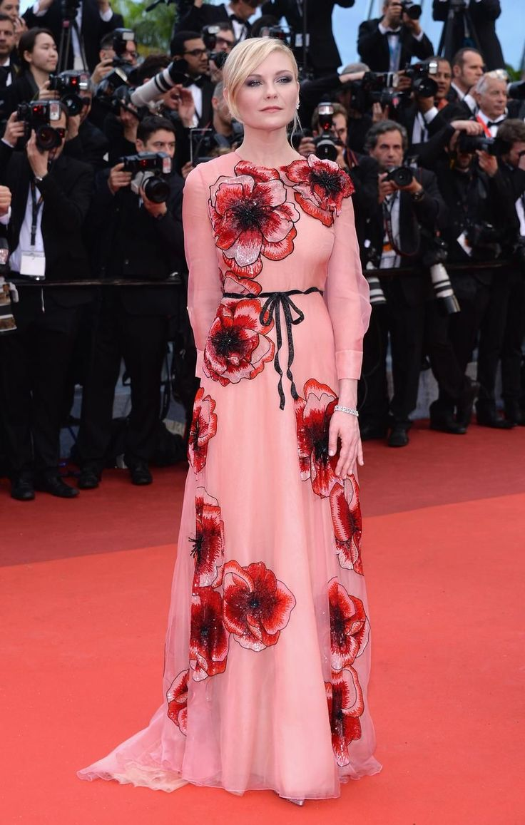 Kirsten Dunst at the Cannes Film Festival, in Gucci.