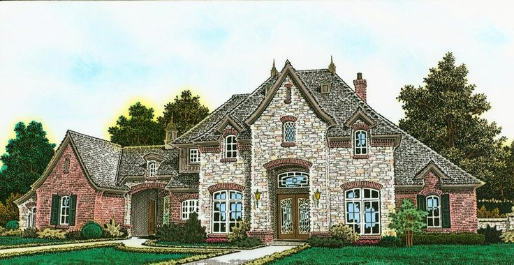 Exclusive European House Plan with Two Rec Rooms - 48521FM | European, French Country, Exclusive, 1st Floor Master Suite, Butler Walk-in Pantry, Courtyard, Den-Office-Library-Study, In-Law Suite, MBR Sitting Area, Media-Game-Home Theater, Corner Lot | Architectural Designs