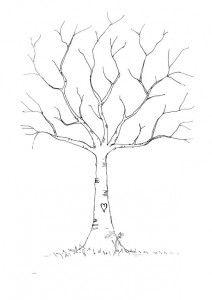 diy fingerprint tree template